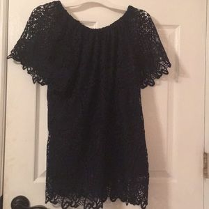 Blue Lace Top by Adiva NWT